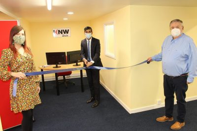 Rt Hon Rishi Sunak, Chancellor of the Exchequer, opens KNW's Virtual Training Centre.